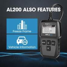 TOPDON AL200 полный OBD2 сканер OBDII код ридер автомобильный диагностический инструмент OBD2 Автомобильный сканер анализатор двигателя OBD2 авто диагн...
