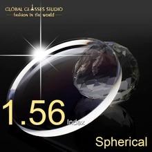 1.56 endeksi okuma küresel reçine reçete Lens HMC Anti scratch & yansıtıcı kaplama lensler