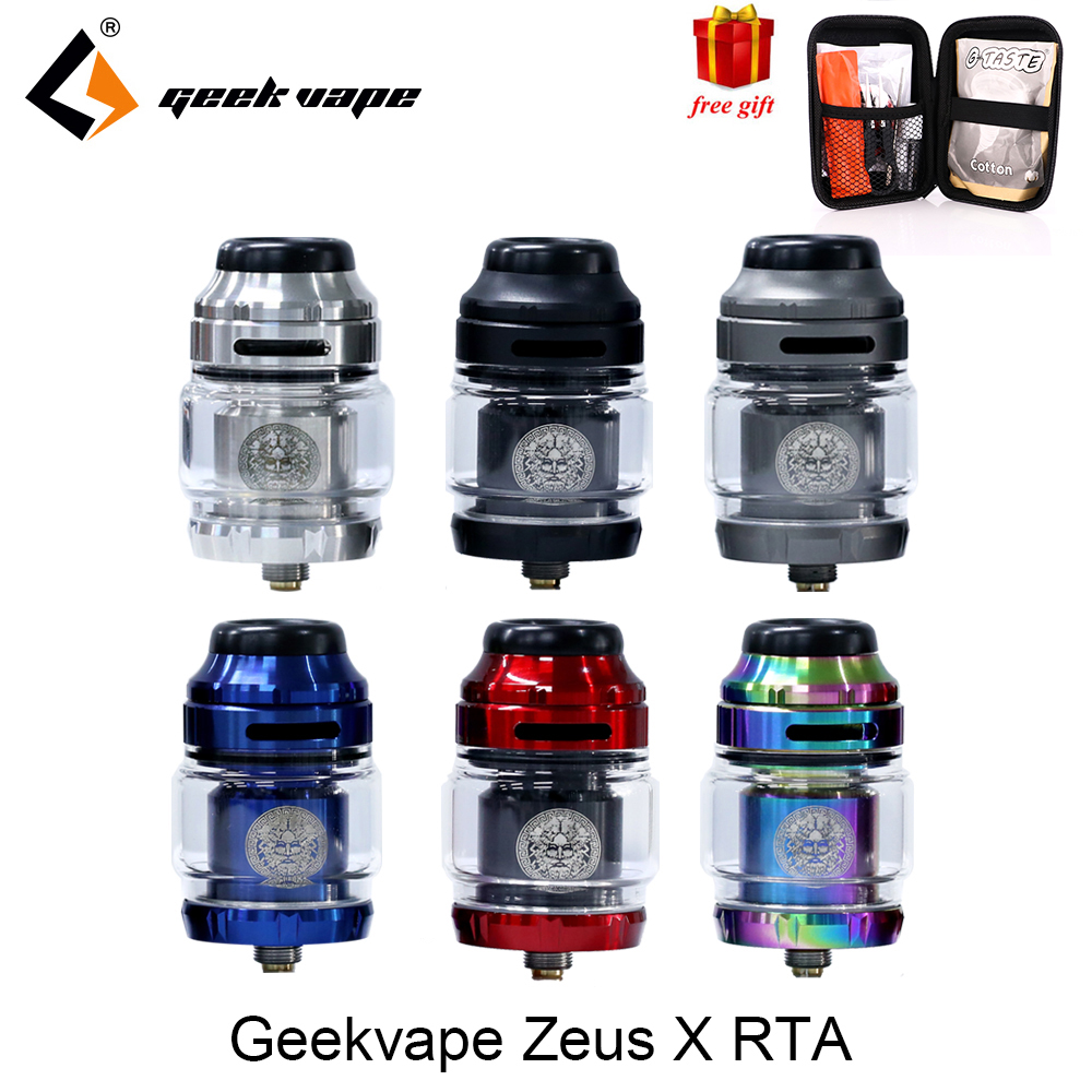Geekvape Atomizer Drip-Tip MTL Electronic Cigarette Zeus-X-Rta Dual/ammit With 810 Delrin