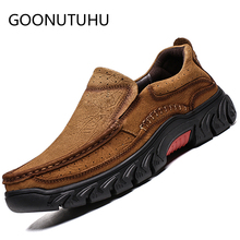 2019 new fashion men's shoes casual genuine leather cow loafers male big size 38-47 slip on shoe man flats driving shoes for men цена