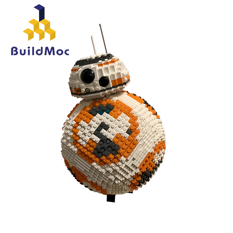 BuildMoc <font><b>Star</b></font> <font><b>Wars</b></font> Series MOC Toys <font><b>BB8</b></font> Spherical Robot <font><b>Star</b></font> fighter Technic Figure Assembled Educational Building Blocks For Kid image