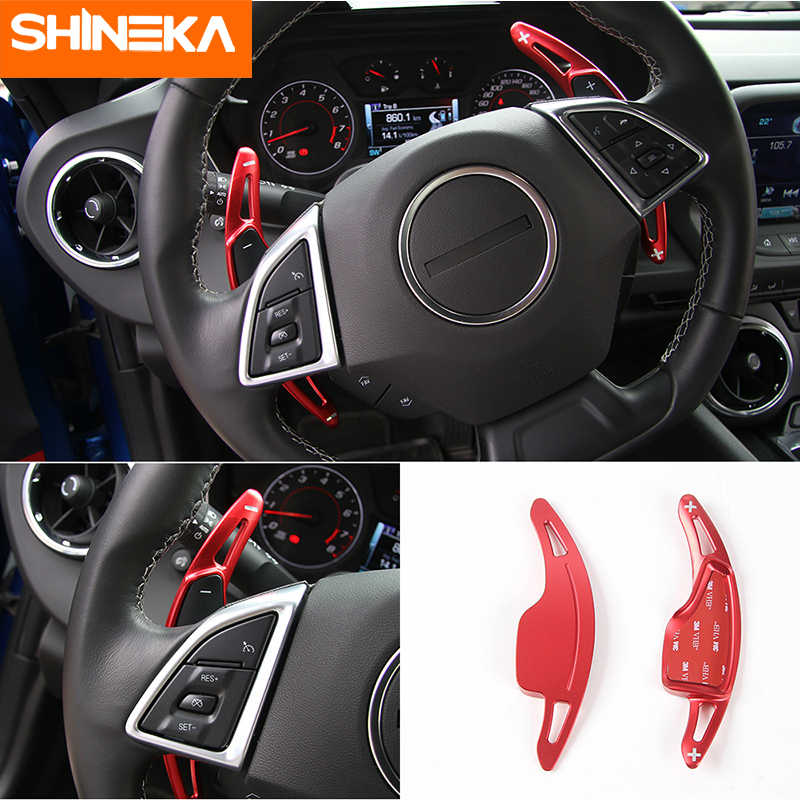 Steering Wheel Shift Paddle Shifter Cover Aluminium For Chevrolet Camaro 2012-15