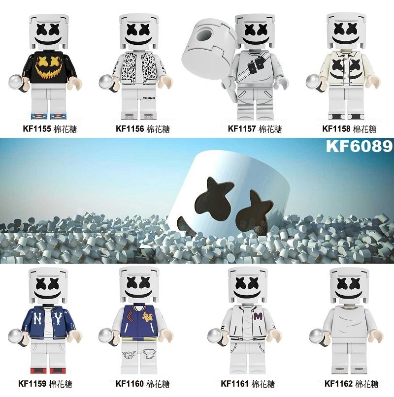 Single Sale Building Blocks Bricks Famous DJ  Singer Charater Dolls AIM Agent Figures For Children Collection Toys Gift KF6089