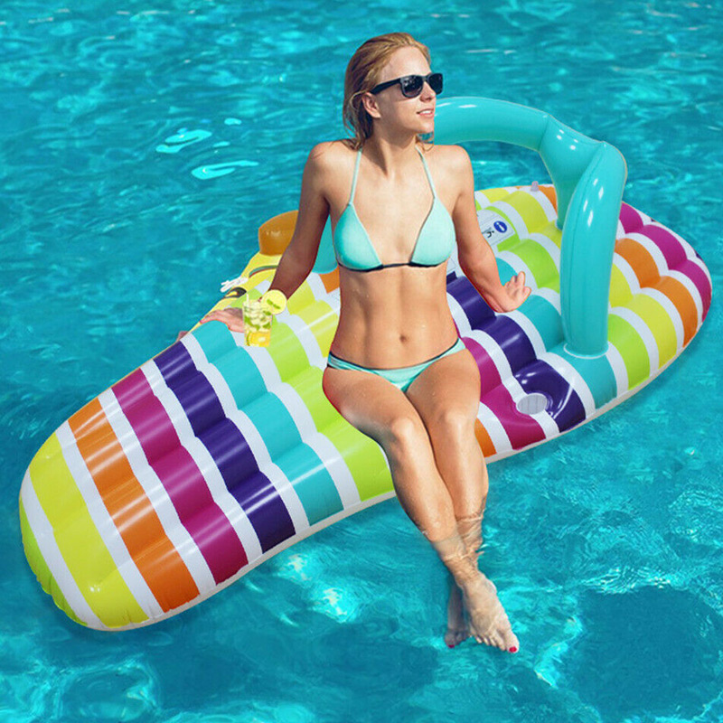 HOT Inflatable Water Hammock Floating Bed Slippers Lounge Chair For Swimming Pool Beach LSF