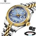 Женские наручные часы PAGANI  модные золотые часы класса люкс из нержавеющей стали  водонепроницаемые кварцевые наручные часы  2020
