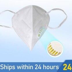 50 шт. KN95 маска Респиратор маска для лица против пыли многоразовая N95 маска хлопок PM2.5 фильтр защитный респиратор PK Ffp3 Fpp3 маска