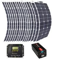 8pcs 300w flexible solar panel 5000w inverter PWM 60A controller
