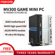 MSECORE I9 9900KF GTX1060 3G Gewidmet karte DDR4 spiel Mini PC Windows 10 Desktop-Computer gaming pc linux intel HTPC DP HDMI 2,0