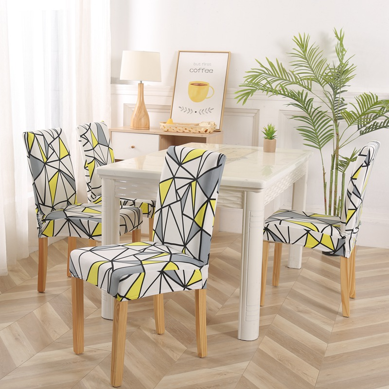 US $15.64 |Kitchen Chair Cover Flower Printing Removable Chair Cover Dining  Seat Cover Slipcover Chair Spandex Furniture Covers 4/6/8pcs-in Chair ...