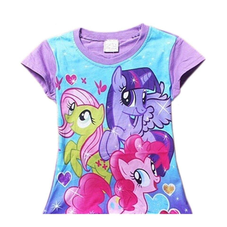 COSPOT Baby Girls Summer T Shirt Girl T-Shirt Kids Tee Tops Baby Girls Clothes Girls Cute Cartoon My Little Pony 2020 New 20