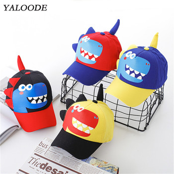 YALOODE Spring Summer Baby Hat Cartoon Dinosaur Boy Baseball Cap Kids Children Snapback Cap Casual Outdoor Baby Girl Sun Hat цена 2017