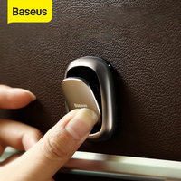 Baseus oto Fastener klip araç kanca çanta USB kablosu depolama organizatör anahtarlık aksesuarları 2 adet Metal araba kanca