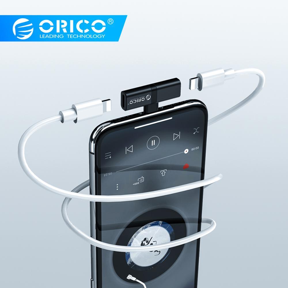 ORICO 2 In 1 Headphone Adapter For Iphone 7 8 Plus Earphone Charging Splitter Adapters Music Calling Converters