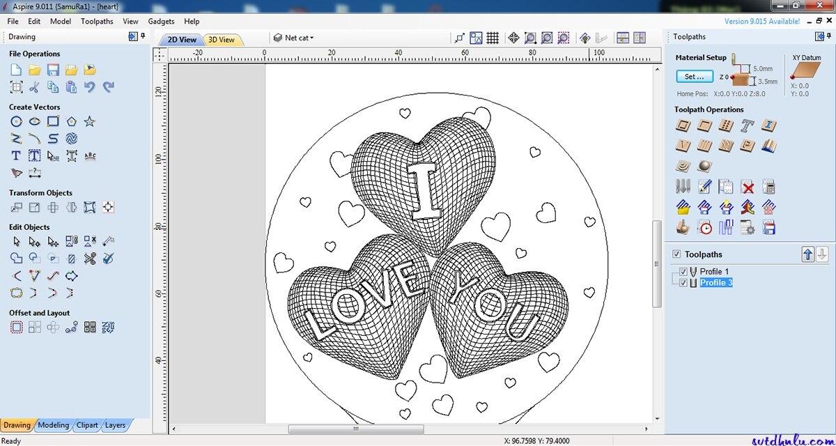 Vectric Aspire 9.015 / Vectric Aspire 9.514 Emboss Design Tool Relief Design Tool+Bonus Clipart