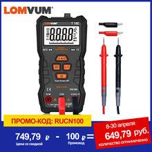 LOMVUM Multimetro A VERO RMS 6000 CONTA Alta Precisione Multimetro Digitale NCV Intelligente Multimetro Auto Ranging AC/DC Torcia Elettrica