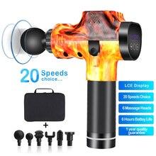 Massage Gun Deep Tissue Percussion Muscle Massager Sports Drill Portable Super Quiet Handheld Electric Body MassagerFascia Gun