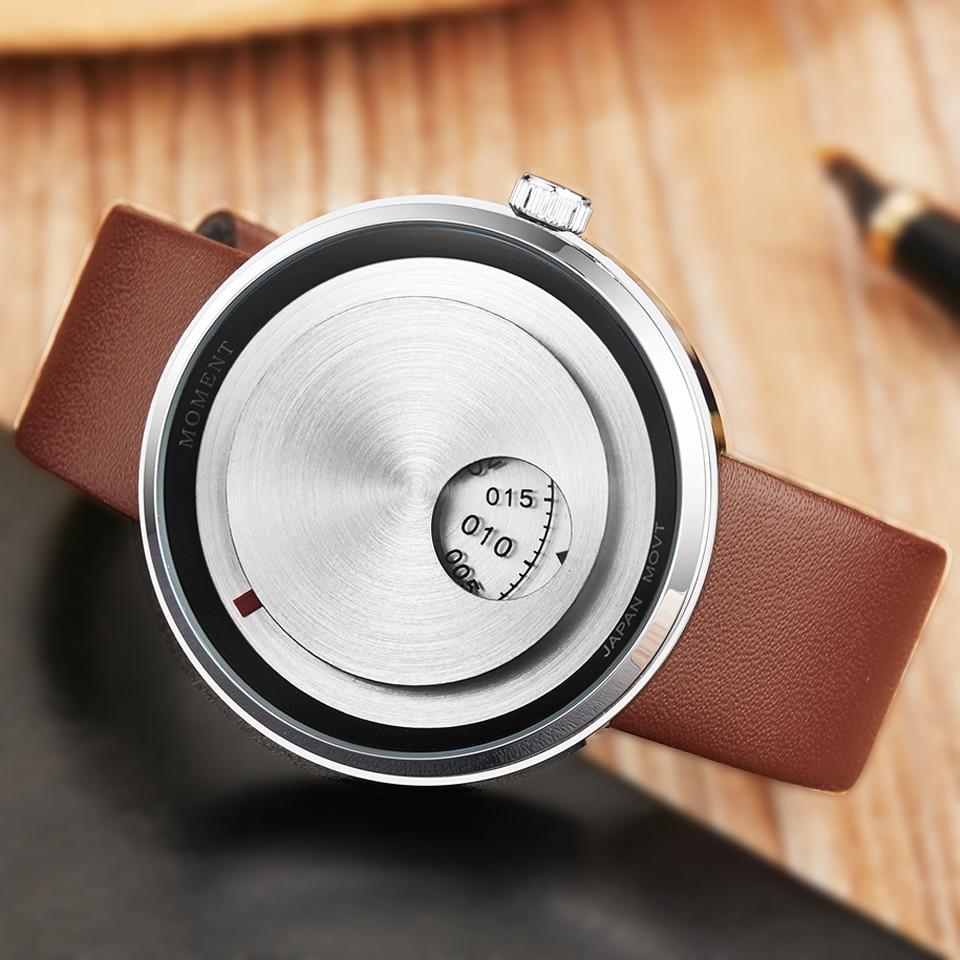 Creative Couple Watch Men Women Casual Watches Couple Wrist Watch Lover Clock Unique Turntable Dial Male Sport Quartz Wristwatch