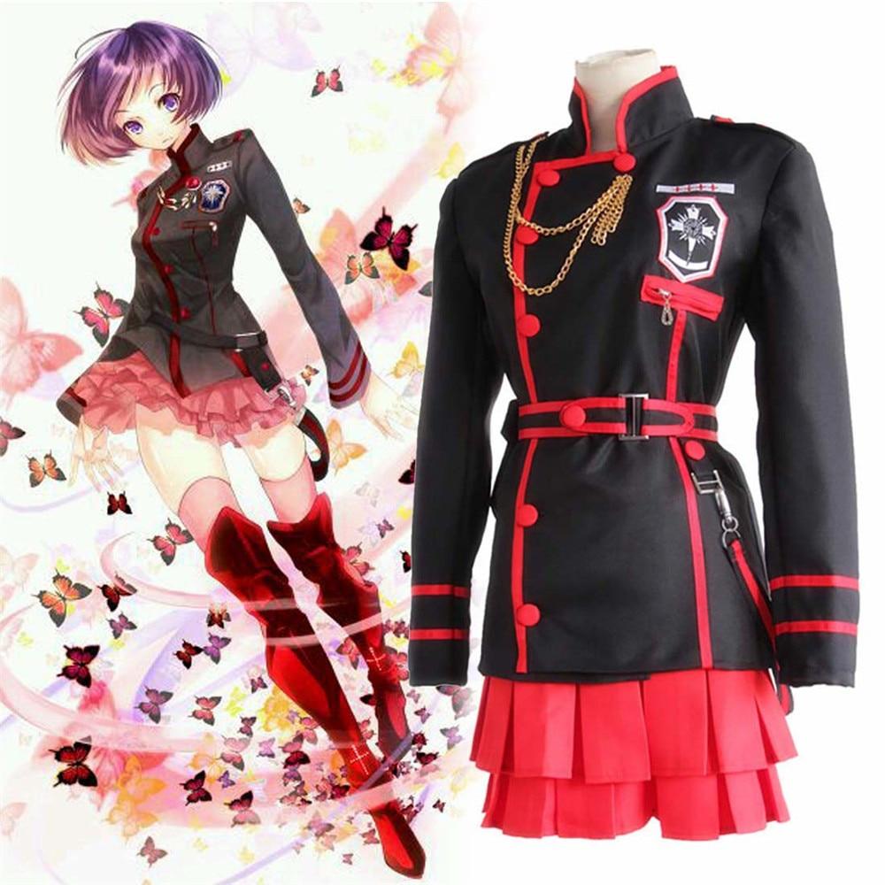 Anime D. Gray-homme Linali Lenalee Lee Allen Walker Costume Cosplay noir uniforme scolaire Costume Qutfit ensemble complet tenue Halloween