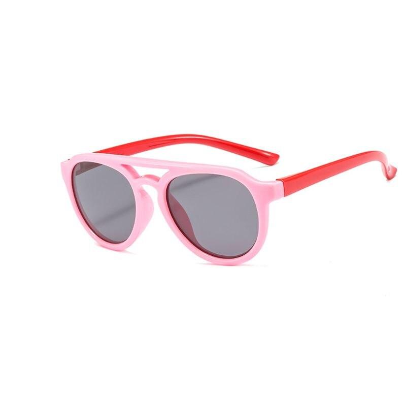 Детские солнечные очки мальчикам и девочкам, силиконовые очки солнечные очки тёмные очки для От 4 до 12 лет Детская R9CF - Цвет линз: 5