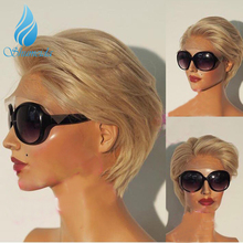 Short Lace Front Human Hair Wigs with Pre Plucked Bleached Knots Glueless Lace Bob Wigs For Black Women Brazilian Remy Hair Wig стоимость
