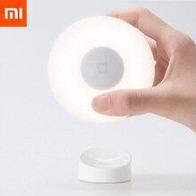 Neue Xiaomi Mijia FÜHRTE Induktion Nacht Licht 2 Lampen Helligkeit Einstellbar Infrarot Smart Menschlichen Körper Sensor mit Magnetische Bas