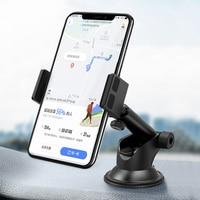 Soporte Universal para teléfono móvil, rotación de 360 °, para parabrisas y salpicadero de coche, para iPhone 12, GPS, soporte de teléfono móvil