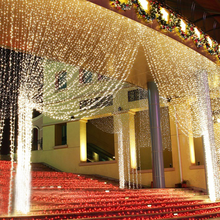 3X3M Curtain Fairy String Light Led Tree Christmas for Wedding Home Window Party Decorations Holiday Lighting