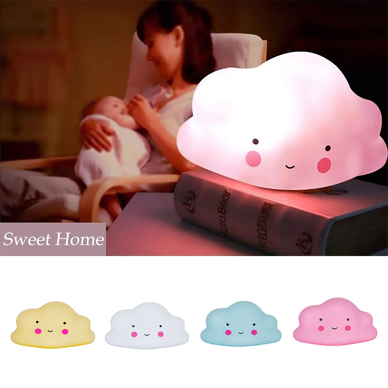 BRELONG LED Night Light Cute Cloud Children's Bedroom Lights Festival Decoration Toys Decorative Lights Party Christmas Birthday