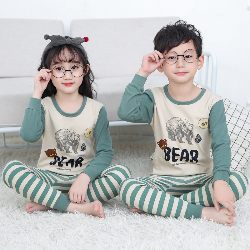 Image 4 - Children pajamas children boys baby clothing kids girls sleepwear  clothing set baby long sleeve home clothing for pyjamas kidsPajama Sets   -