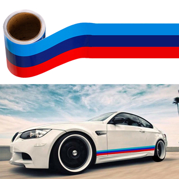 3M Car Vinyl Graphic Decal Auto Stickers and Decal M-Colored Stripe Sticker Car Vinyl Decal For BMW M3 M4 M5 M6 3 5 6 7 Series image