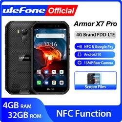 Перейти на Алиэкспресс и купить ulefone armor x7 pro android10 rugged phone 4gb ram smartphone waterproof mobile phone cell phone ip68 nfc 4g lte 2.4g/5g wlan