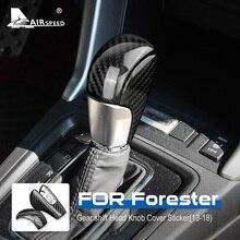 AIRSPEEDสำหรับSubaru Forester 2013 2014 2015 2016 2017 2018 อุปกรณ์เสริมคาร์บอนไฟเบอร์ภายในเกียร์รถเกียร์Shift Knobครอบคลุมสติ๊กเกอร์