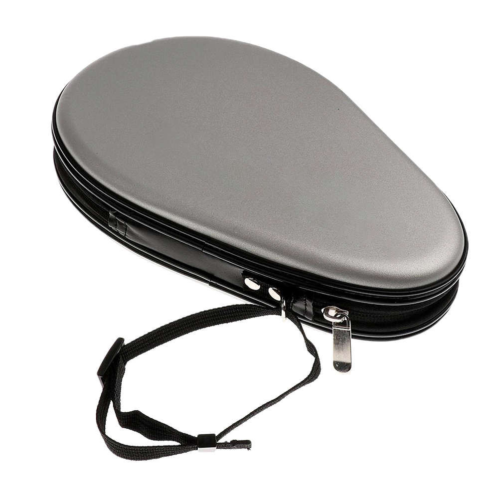 HUIESON Gourd Shape Table Tennis Case Hard for Double Rackets Waterproof PU Table Tennis Racket Bag Table Tennis Accessories