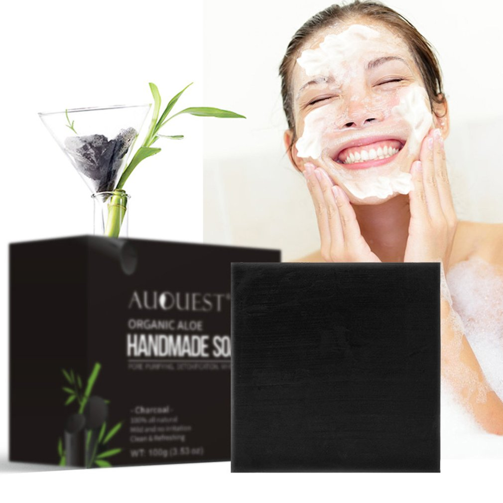 Brightening Skin Hydrating Deep Cleaning Handmade Plants To Blackheads Pore Washing Bathing Natural Bamboo Facial Soap