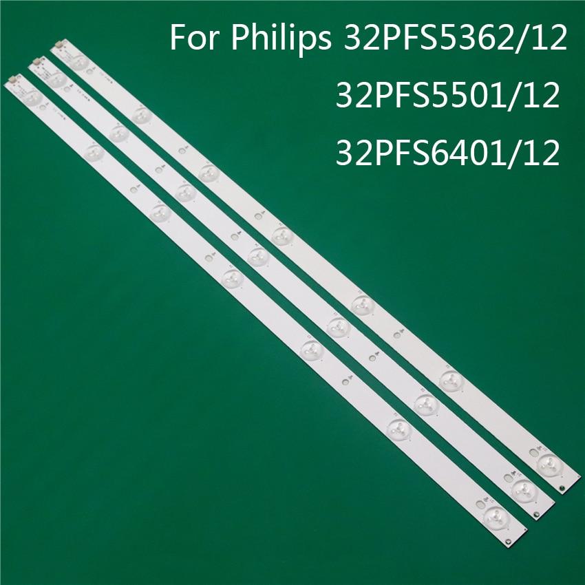 TV Illumination For Philips 32PFS5362/12 32PFS5501/12 32PFS6401/12 LED Bars Backlight Strip Line Ruler GJ-2K15 D2P5 D307-V1 V1.1