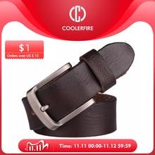 Hombres cinturón superior, 100% de grano completo cuero auténtico de vaca cinturones de jeans suaves para hombres TM053