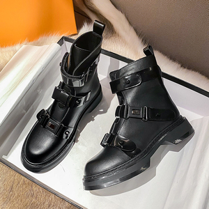 Microfiber Platform Shoes Women's Ankle Boots For Women Fashion Boot Female Chunky Boots Ladies Designer Shoes Woman Booties New