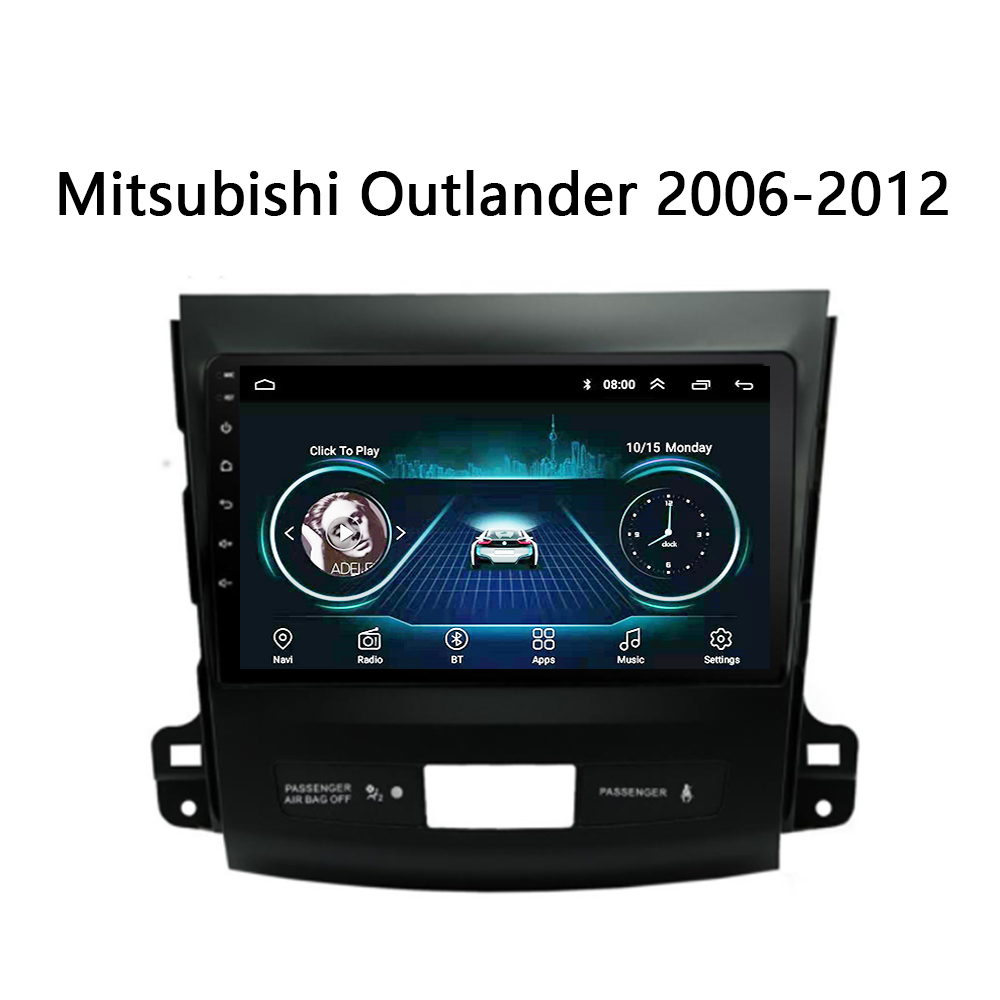 Car radio For <font><b>Mitsubishi</b></font> <font><b>Outlander</b></font> 2006 <font><b>2007</b></font> <font><b>2008</b></font> 2009 2010-2012 Multimedia system GPS DVD support mirror link Android 8.1 9inch image