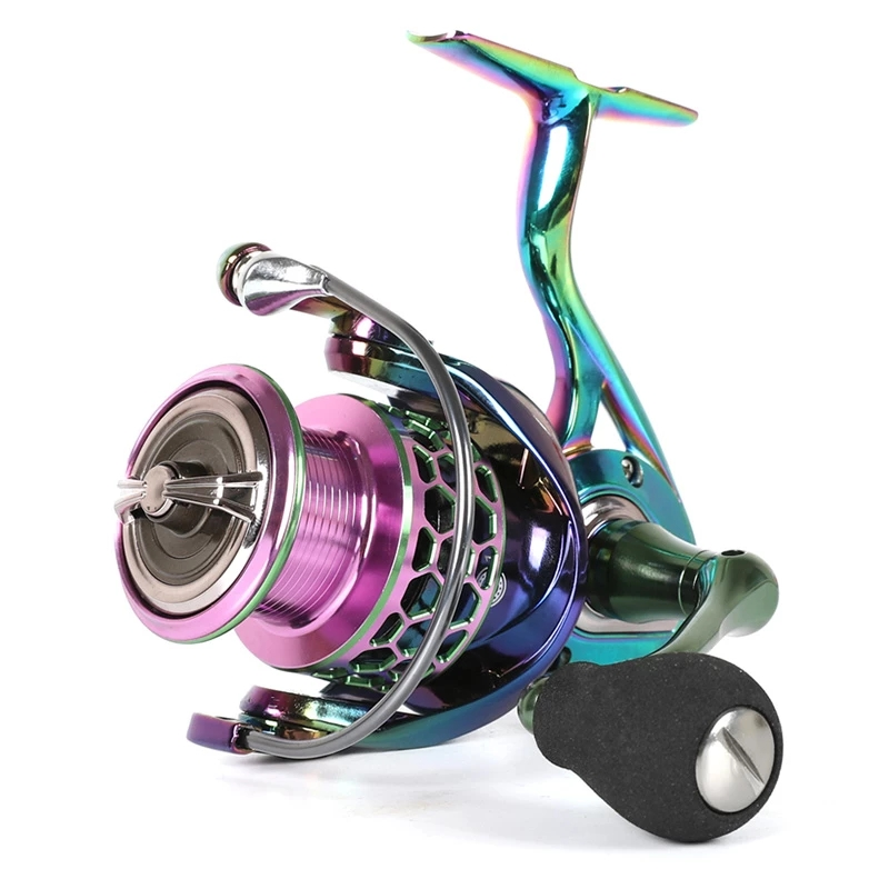 1 sinist HB1000-6000 Spinning pesca mulinello 12BB metallo Spool Gear Ratio 5.2