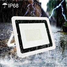 Holofote led 10w 20 30 50 100 220v luz de inundação ip68 à prova dip68 água ao ar livre jardim parede led refletor foco lâmpada
