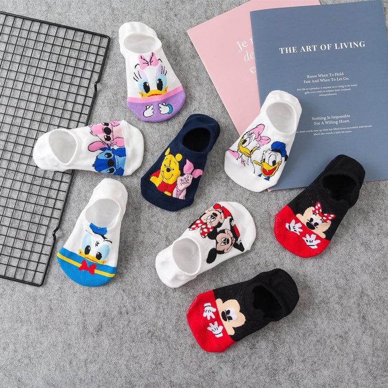 18 Style 1pcs Cute Harajuku Animal Socks Women Summer Korean Cartoon Cat Fox Mouse Socks Funny Low Cut Ankle Sock Happy Sox
