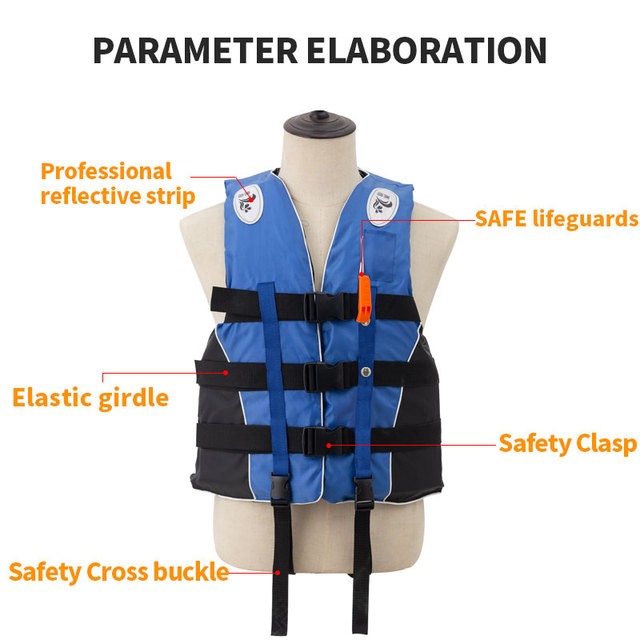 Adult Life Vest with Whistle M-XXXL Sizes Jacket Swimming Boating Ski Drifting Life Vest Water Sports Man kids Jacket Polyeste 3