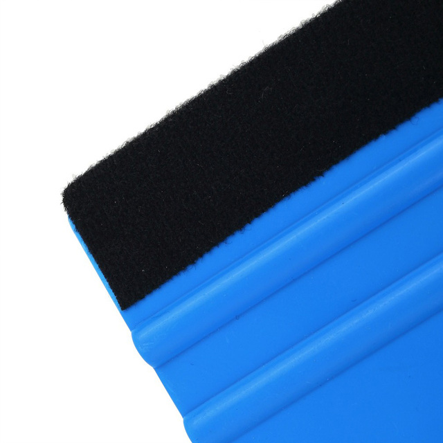 Smart FIlm Car Vinyl Film wrapping tools Blue Scraper squeegee with felt edge size 99x72mm Car Styling Stickers Accessorie 2