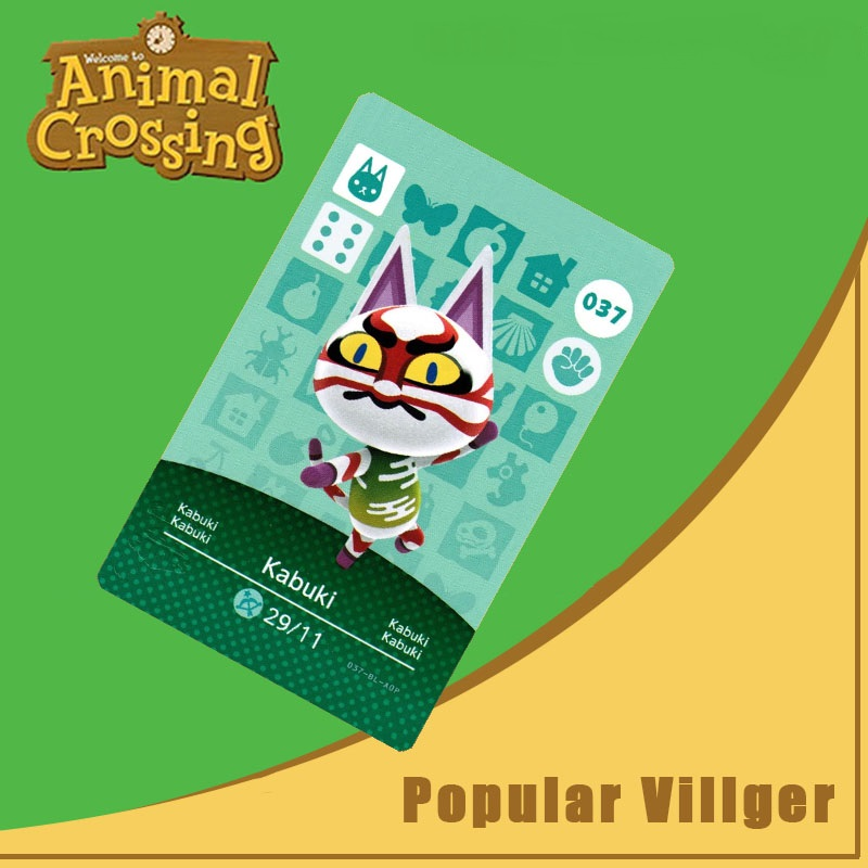 037 Animal Crossing Amiibo Card Kabuki Amiibo Card Animal Crossing Series 1 Kabuki Nfc Card Work For Ns Games Dropshipping