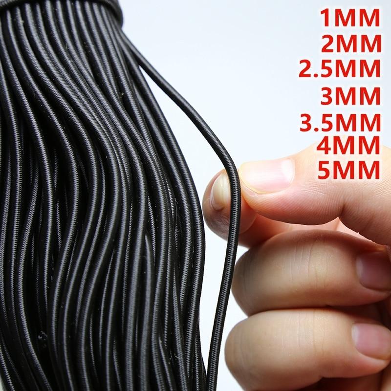 Wysokiej jakości gumka okrągła elastyczna lina gumka elastyczna linia DIY akcesoria do szycia elastyczne koraliki