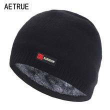 Skullies – Bonnet d'hiver en fourrure pour homme et femme, tricoté, épais et chaud, sans bords
