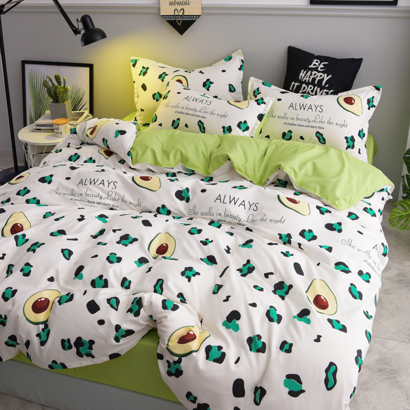 Classic Bedding Set Avocado King Queen Full Single Family Size