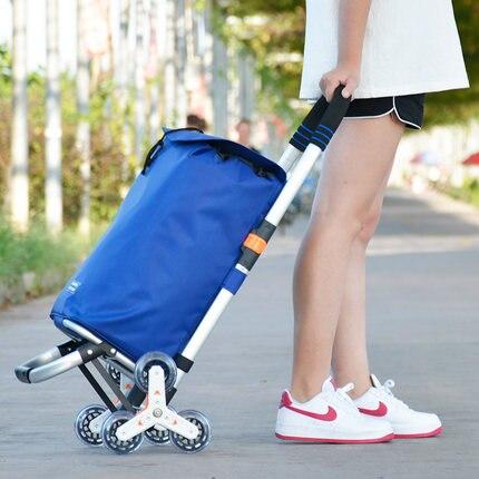 Ältere Trolley warenkorb Räder Frau Warenkorb warenkorb Haushalt Anhänger Tragbare warenkorb faltbare einkaufstaschen - 6
