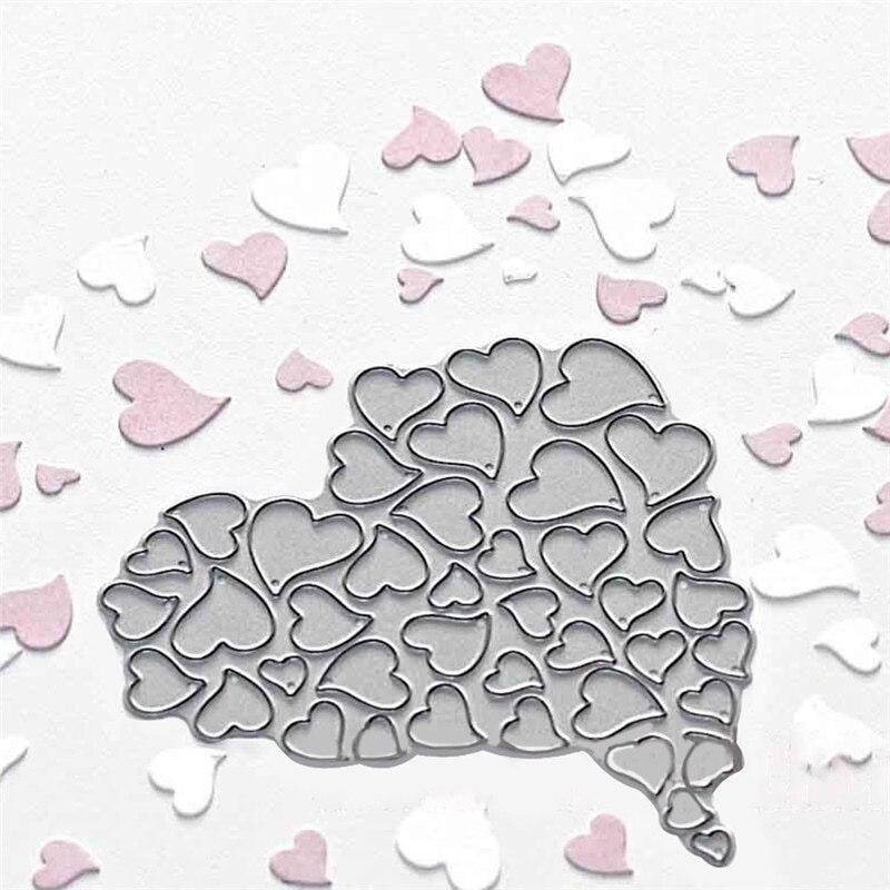 Heart Metal Cutting Dies Scrapbooking For Card Making Stitch Craft Stencil Die Cut