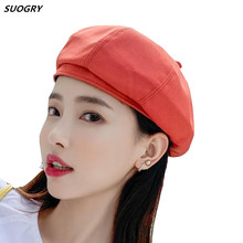 SUOGRY Berets Beret Hat Women Spring Summer Ladies Solid Plain for Casual Vintage Painter Artist
